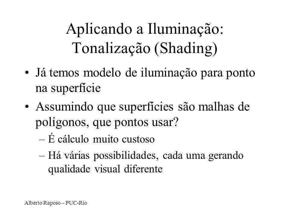 Aplicando a Iluminação: Tonalização (Shading)