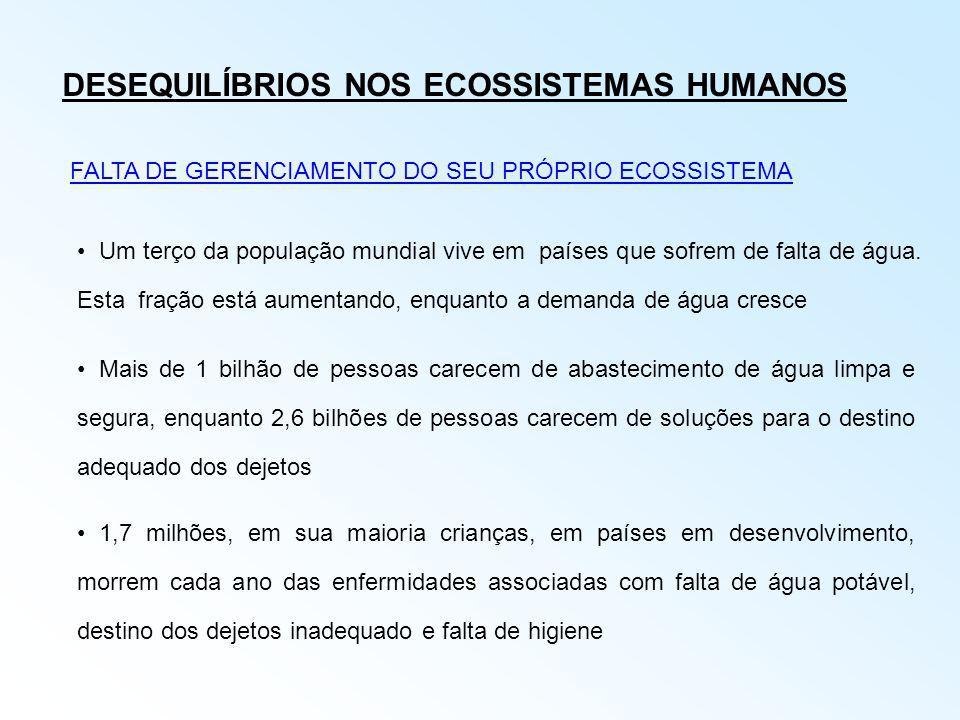 DESEQUILÍBRIOS NOS ECOSSISTEMAS HUMANOS
