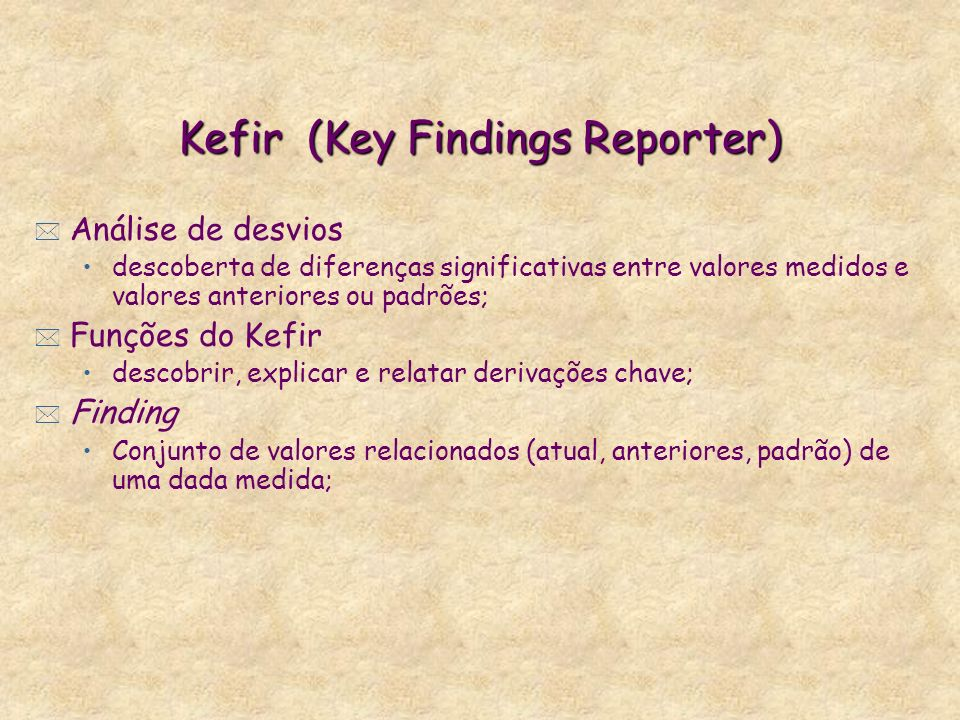 Kefir (Key Findings Reporter)