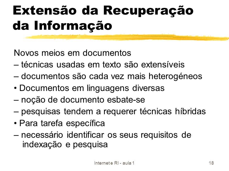 Extensão da Recuperação da Informação