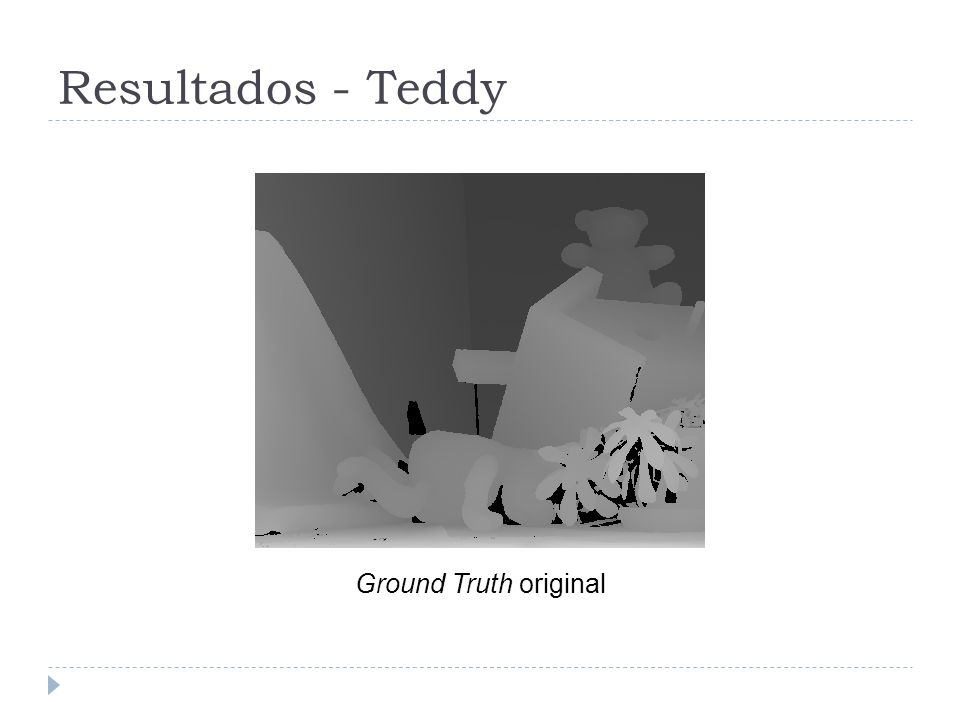 Resultados - Teddy Ground Truth original