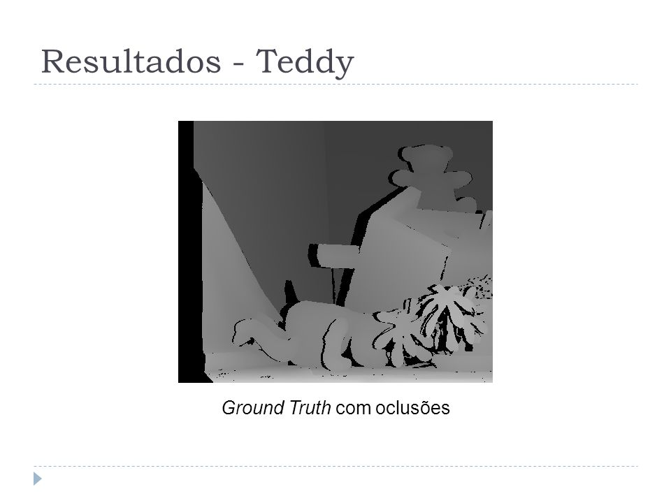 Ground Truth com oclusões