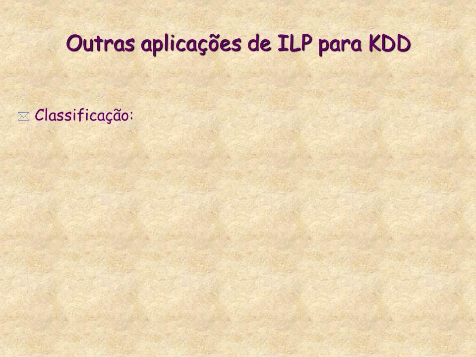 Outras aplicações de ILP para KDD