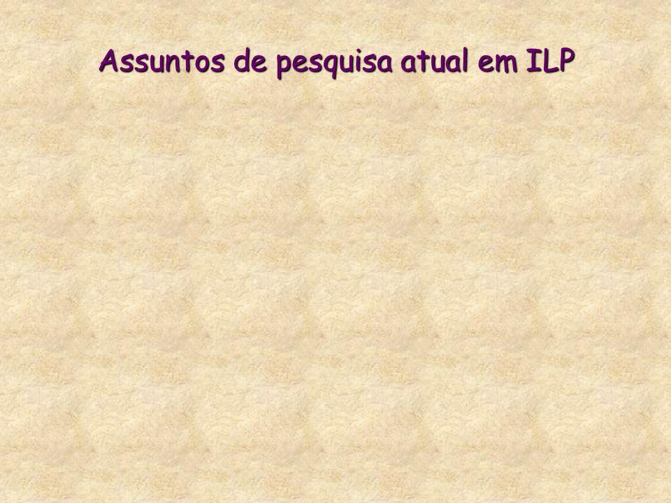 Assuntos de pesquisa atual em ILP