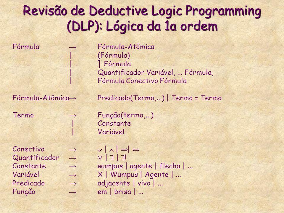 Revisão de Deductive Logic Programming (DLP): Lógica da 1a ordem