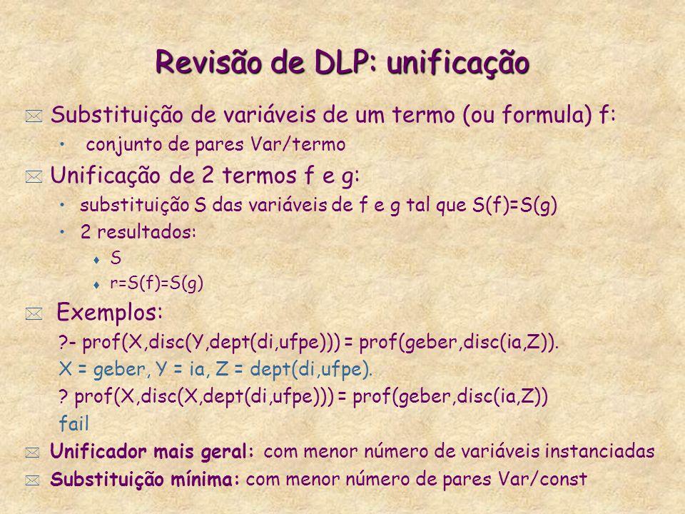 Revisão de DLP: unificação