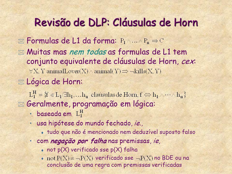 Revisão de DLP: Cláusulas de Horn