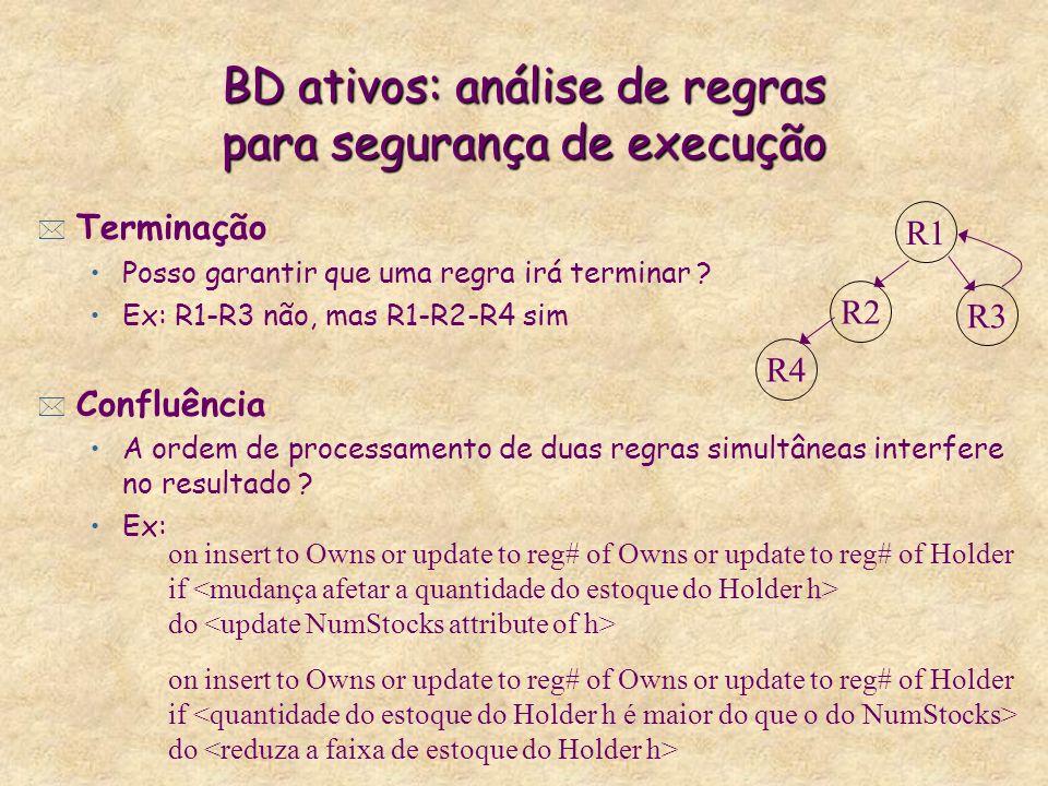 BD ativos: análise de regras para segurança de execução