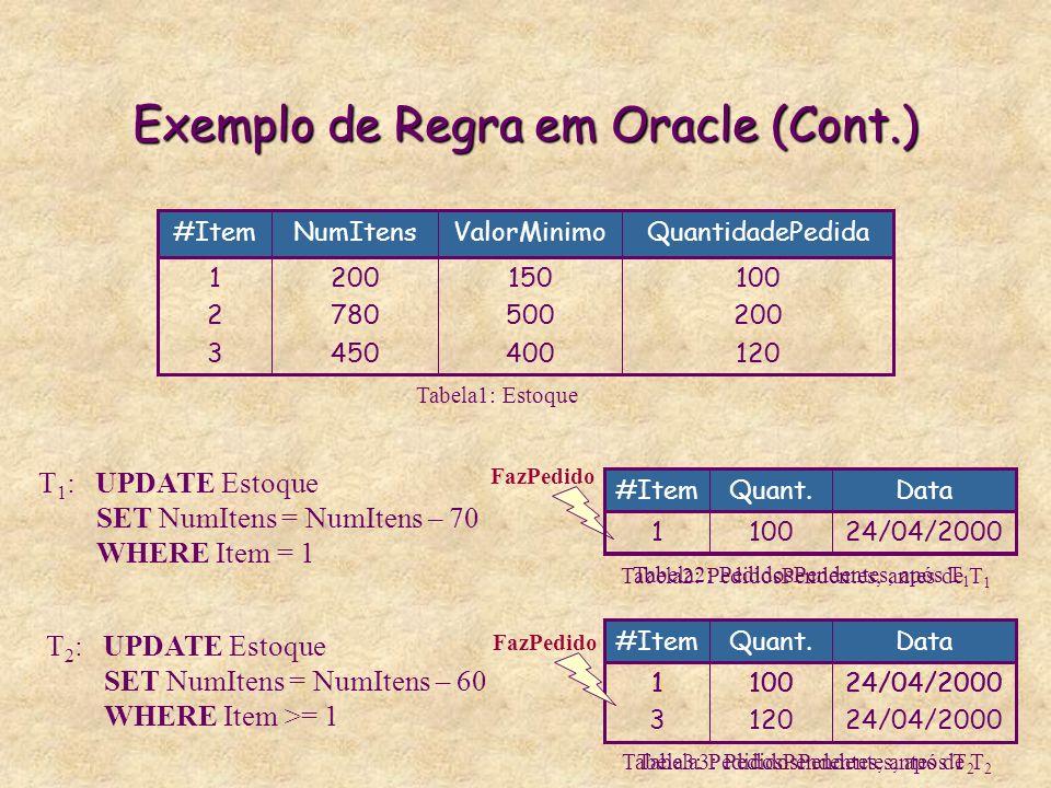 Exemplo de Regra em Oracle (Cont.)