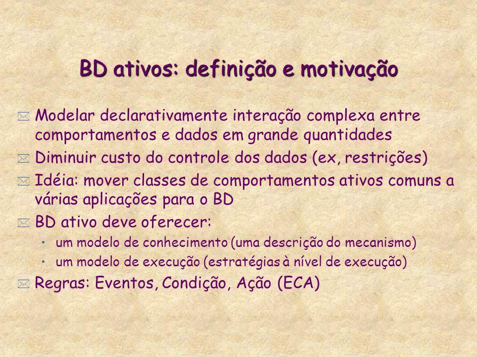 BD ativos: definição e motivação
