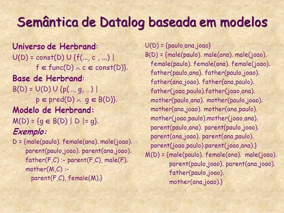 Semântica de Datalog baseada em modelos