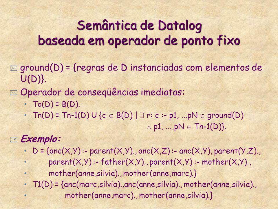 Semântica de Datalog baseada em operador de ponto fixo