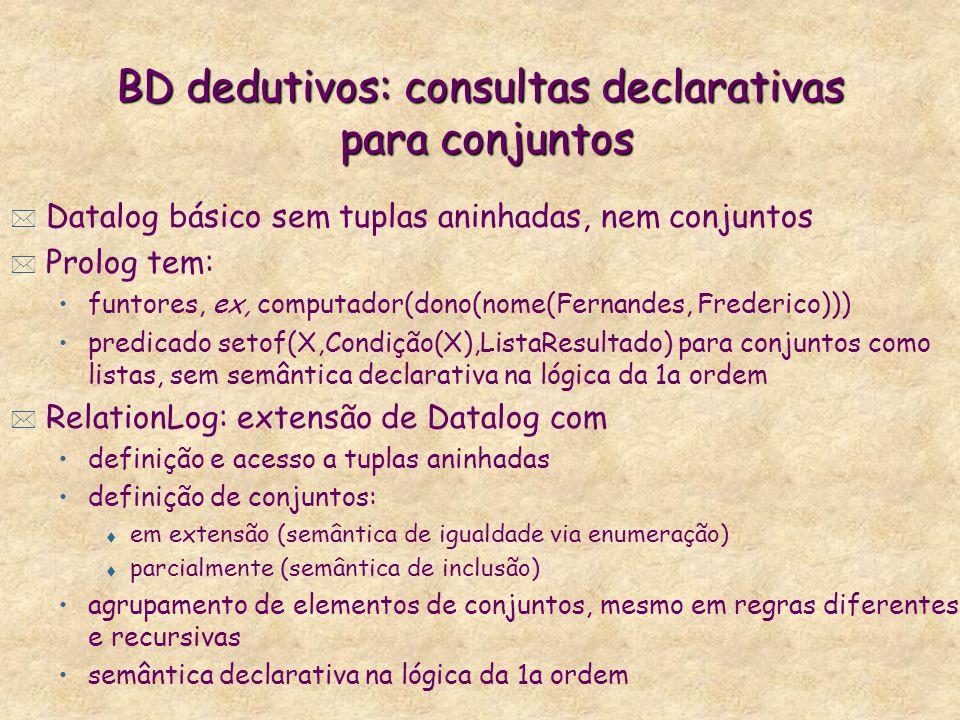 BD dedutivos: consultas declarativas para conjuntos