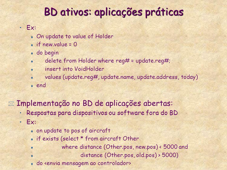 BD ativos: aplicações práticas