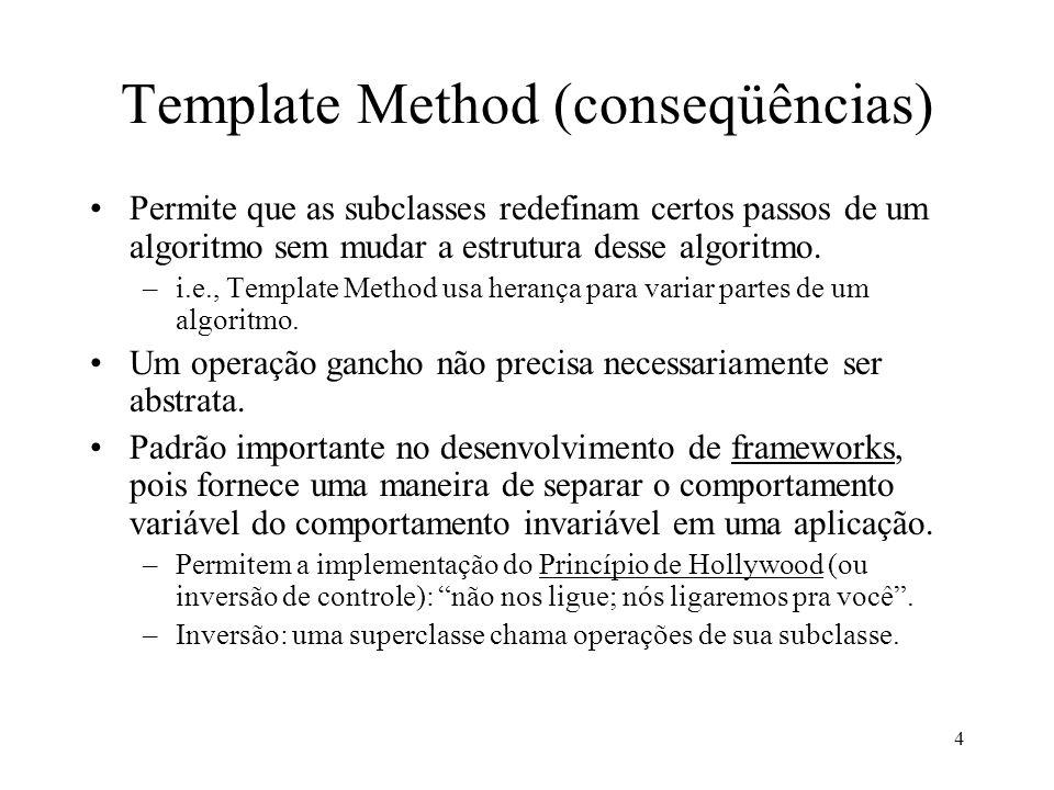 Template Method (conseqüências)