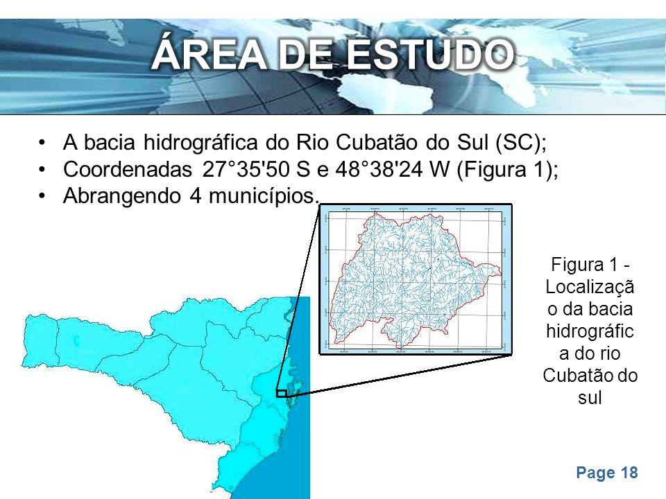 Figura 1 - Localização da bacia hidrográfica do rio Cubatão do sul