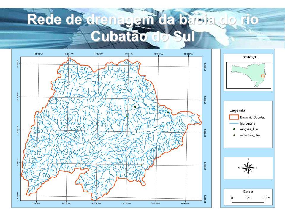 Rede de drenagem da bacia do rio Cubatão do Sul