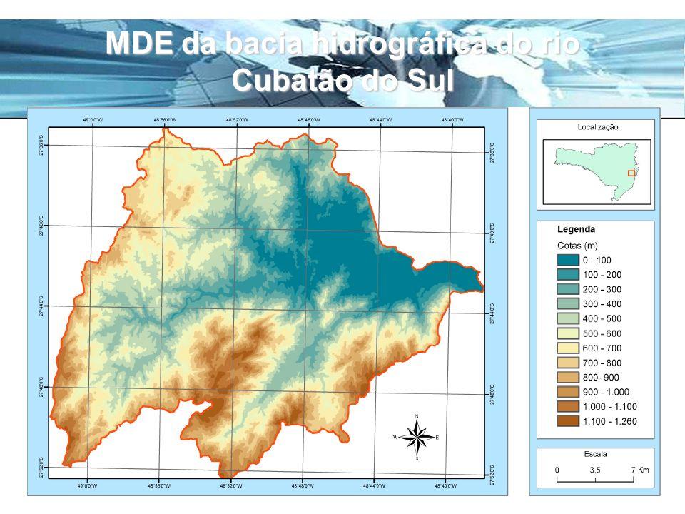 MDE da bacia hidrográfica do rio Cubatão do Sul