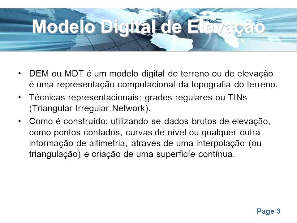 Modelo Digital de Elevação