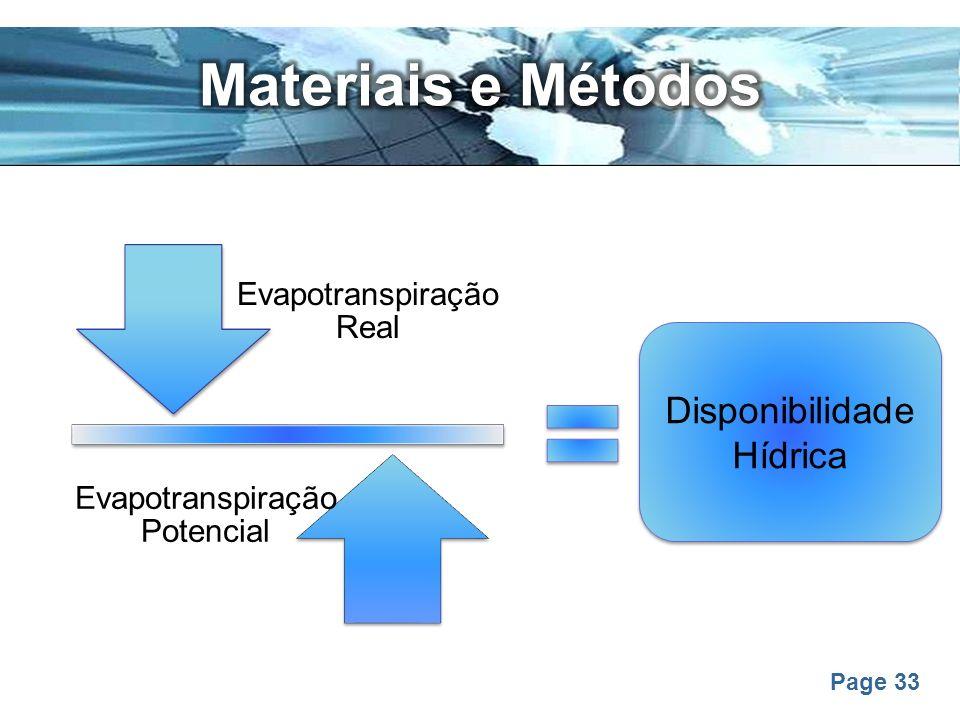 Materiais e Métodos Disponibilidade Hídrica
