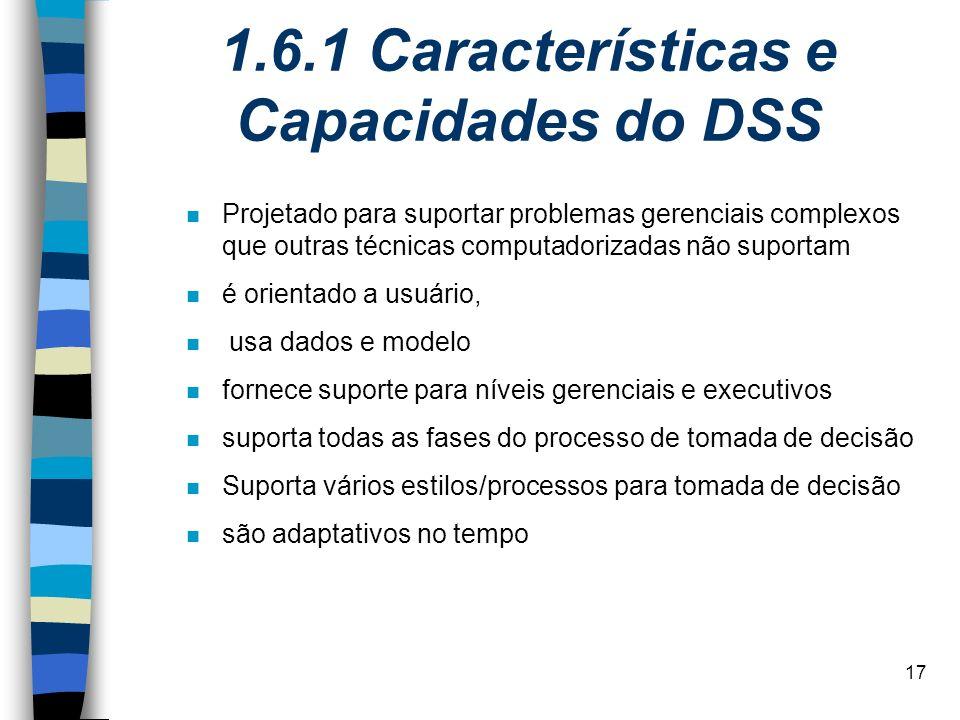 1.6.1 Características e Capacidades do DSS