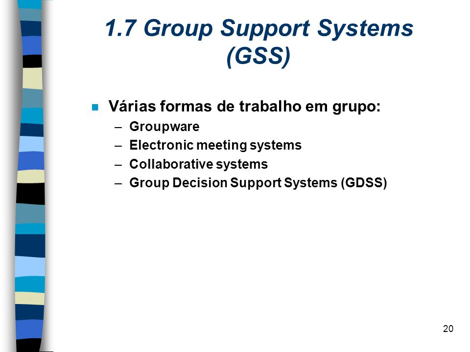 1.7 Group Support Systems (GSS)