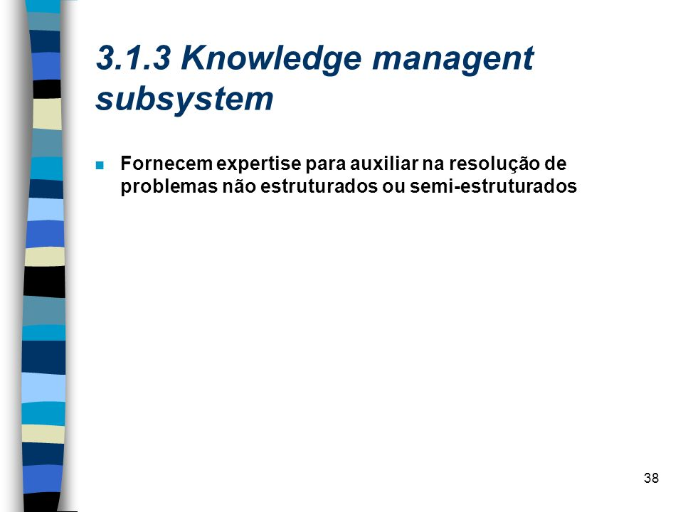 3.1.3 Knowledge managent subsystem