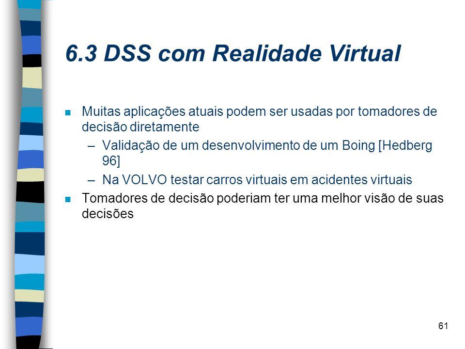6.3 DSS com Realidade Virtual