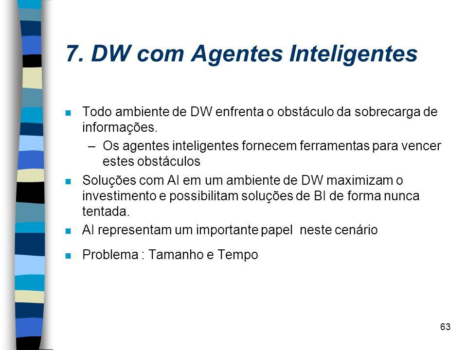 7. DW com Agentes Inteligentes