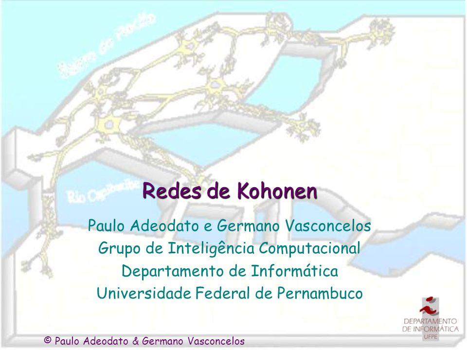Redes de Kohonen Paulo Adeodato e Germano Vasconcelos