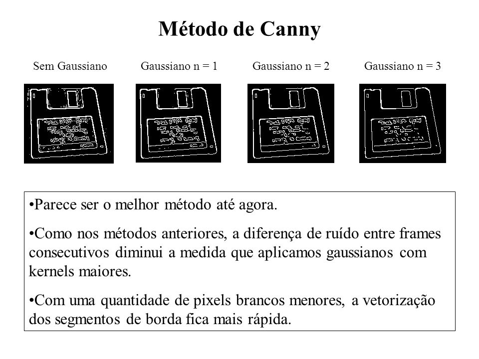 Método de Canny Parece ser o melhor método até agora.
