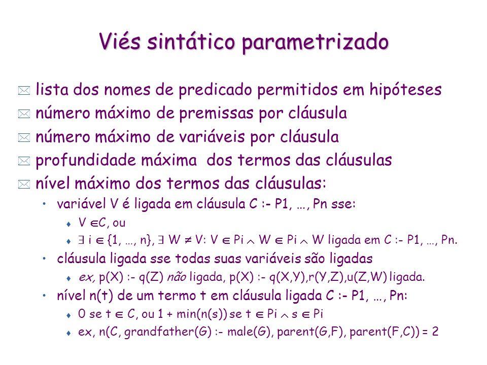 Viés sintático parametrizado