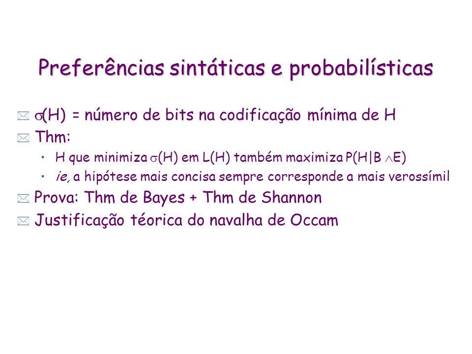 Preferências sintáticas e probabilísticas