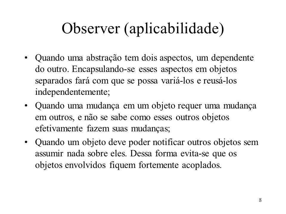 Observer (aplicabilidade)