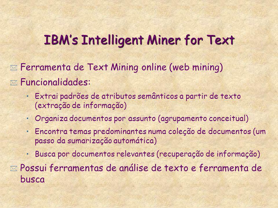 IBM's Intelligent Miner for Text