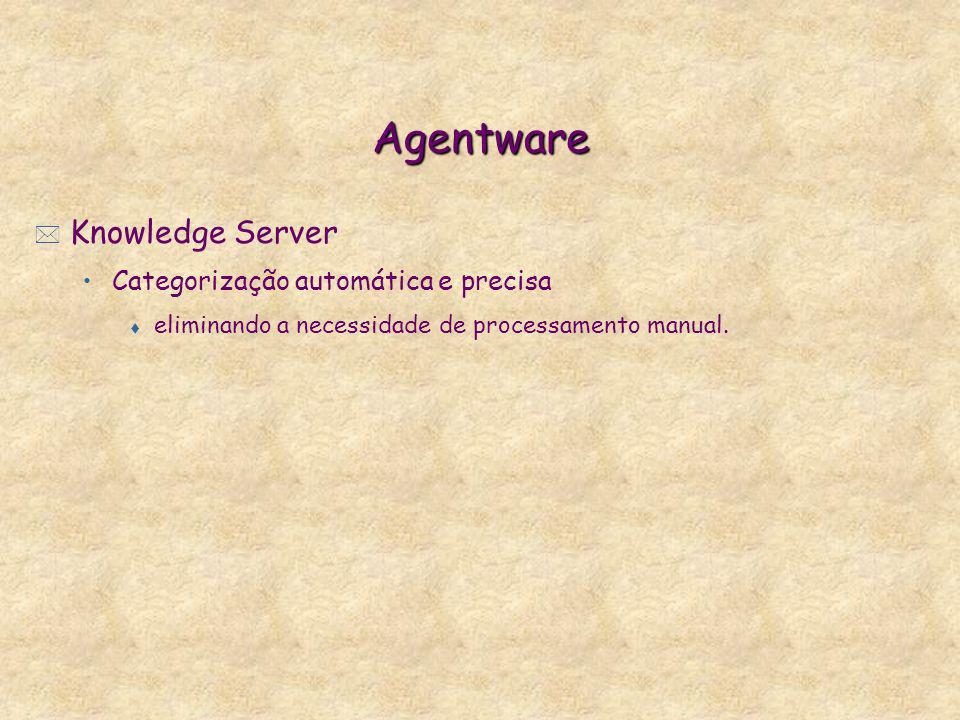 Agentware Knowledge Server Categorização automática e precisa