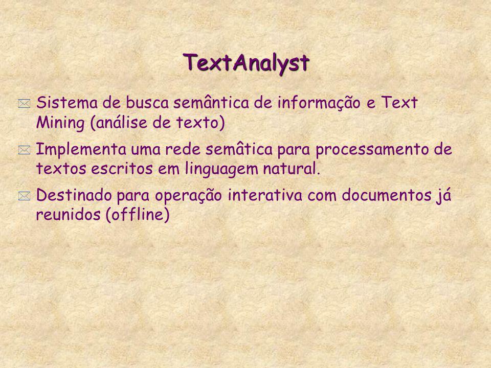 TextAnalyst Sistema de busca semântica de informação e Text Mining (análise de texto)
