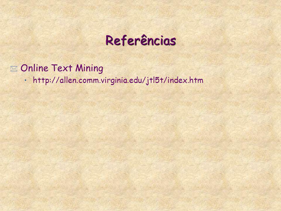 Referências Online Text Mining