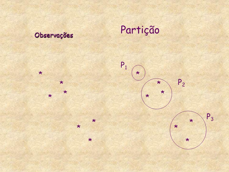 Observações Partição * P1 P2 P3 *