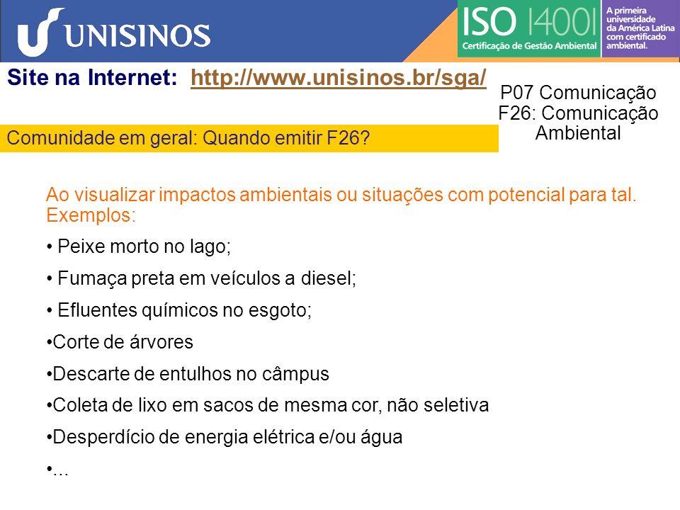 P07 Comunicação F26: Comunicação Ambiental