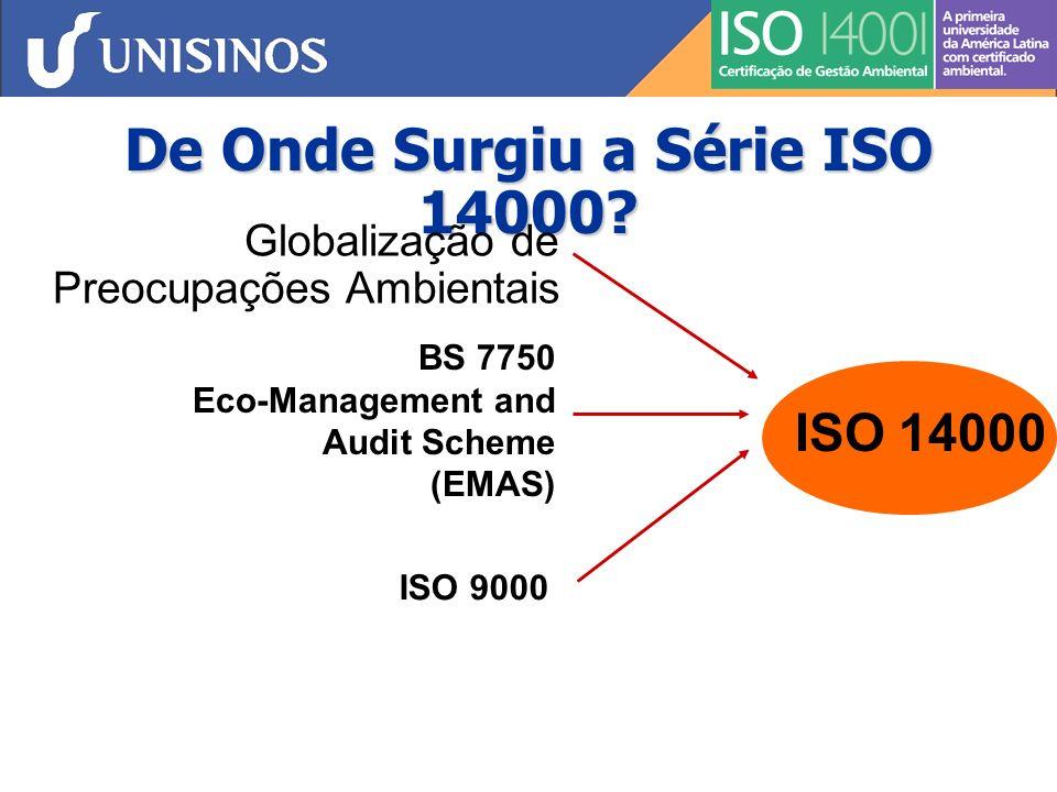 De Onde Surgiu a Série ISO 14000