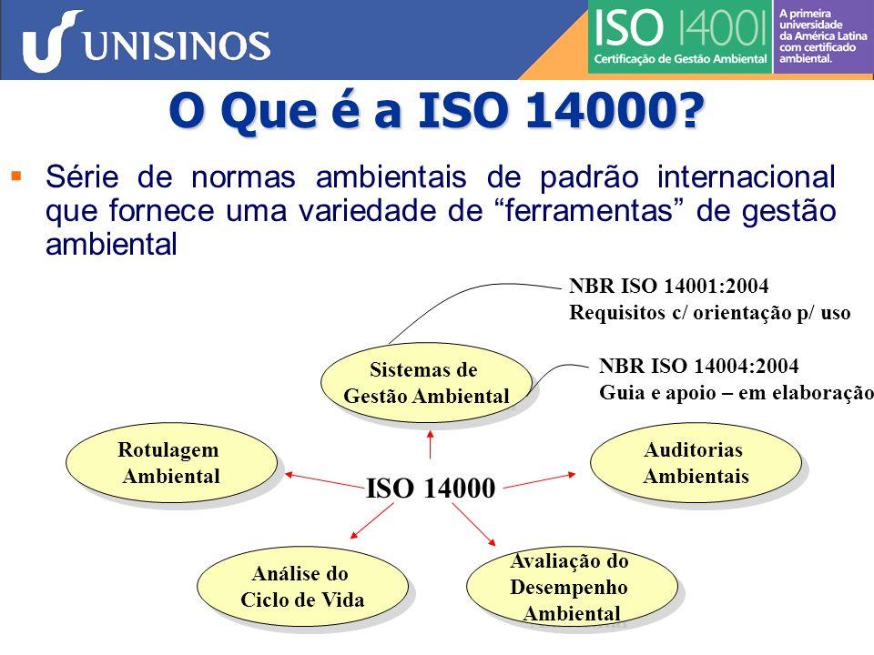 O Que é a ISO 14000 Série de normas ambientais de padrão internacional que fornece uma variedade de ferramentas de gestão ambiental.