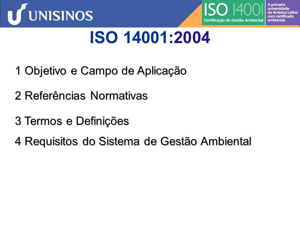 ISO 14001:2004 1 Objetivo e Campo de Aplicação