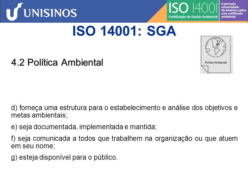 ISO 14001: SGA 4.2 Política Ambiental