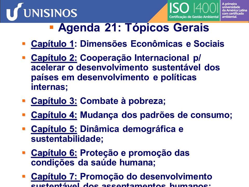 Agenda 21: Tópicos Gerais