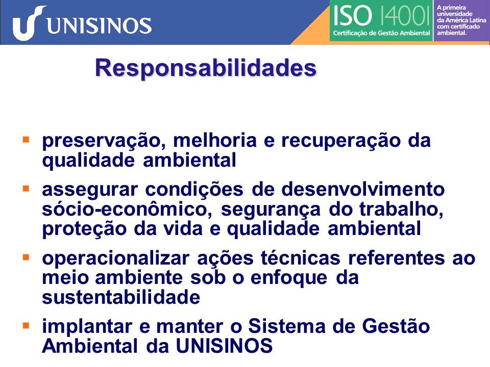 Responsabilidades preservação, melhoria e recuperação da qualidade ambiental.
