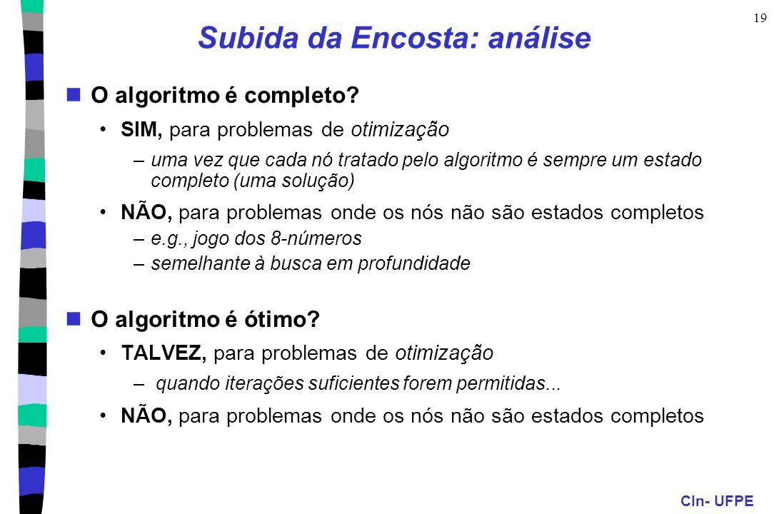 Subida da Encosta: análise
