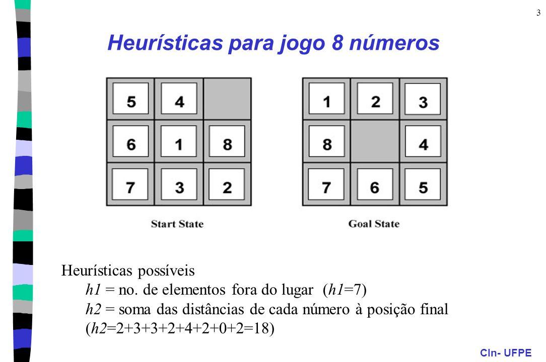 Heurísticas para jogo 8 números