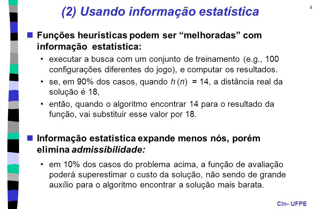 (2) Usando informação estatística