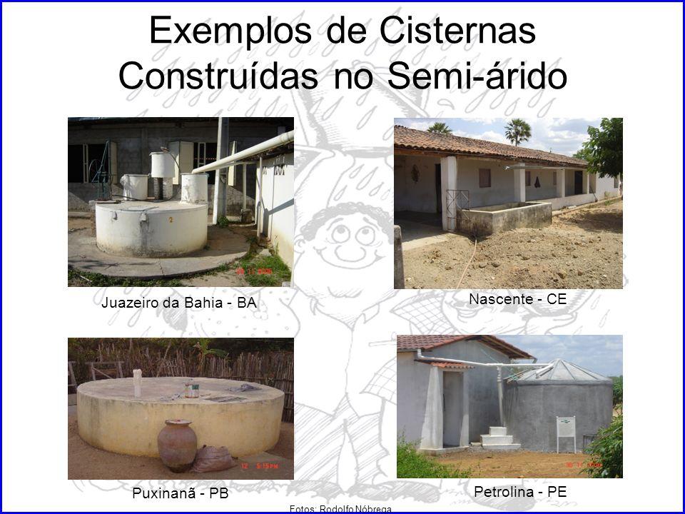 Exemplos de Cisternas Construídas no Semi-árido